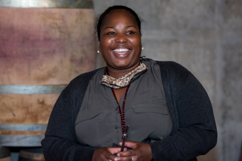 The Guild's first female Protégé and now head winemaker at Adama wines, Praisy Dlamini